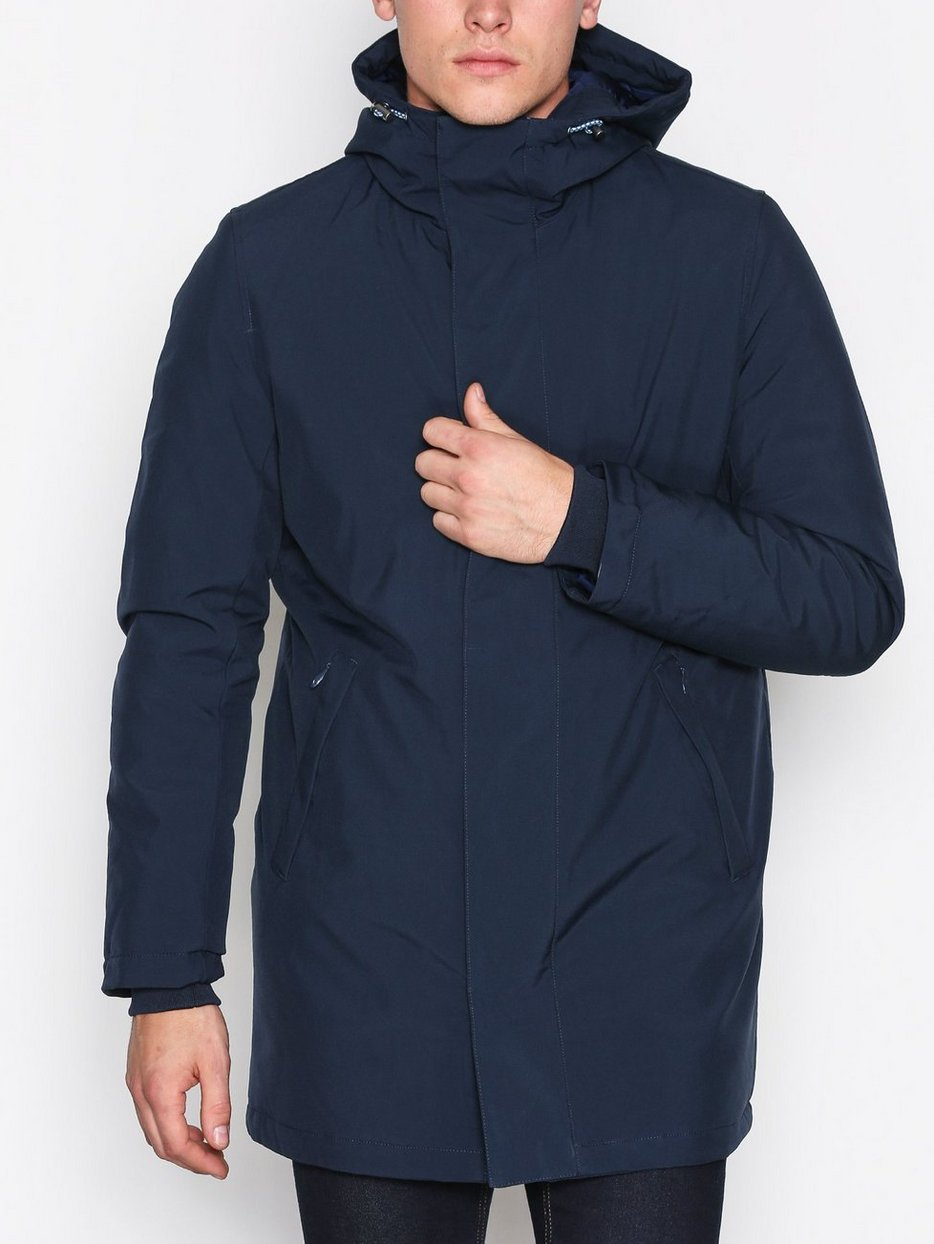 Long Soft Shell Quilted Jacket - Knowledge Cotton Apparel ...