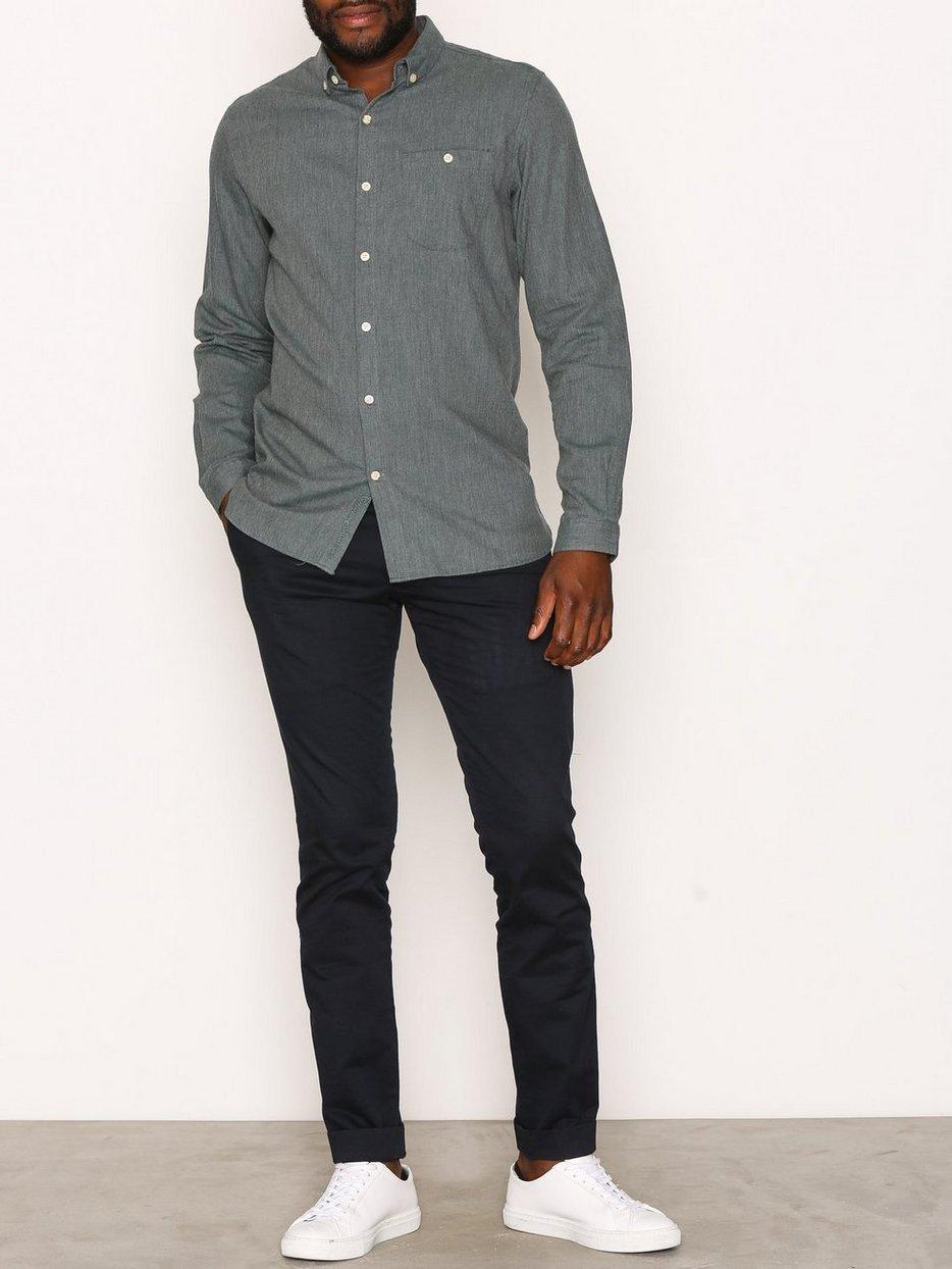 Melange Effect Flannel Shirt