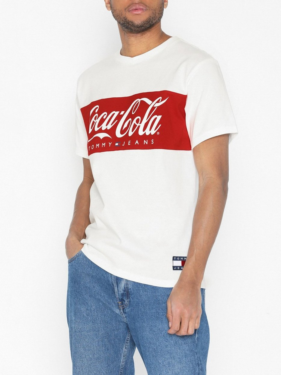 35597208 Tommy X Coca Cola Tee Tommy Jeans Weiss T Shirts Tops