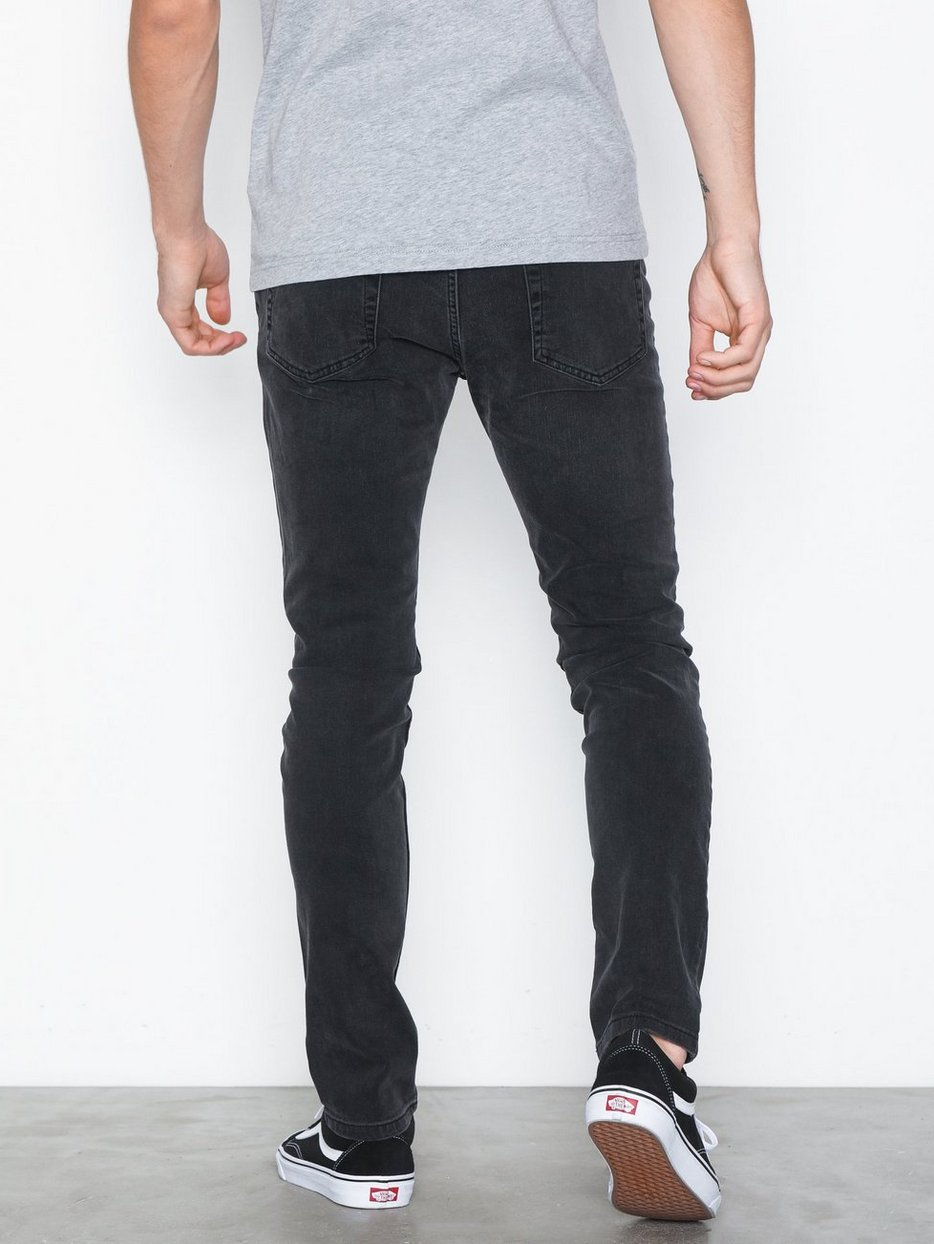 Washed Black Stretch Skinny Jeans