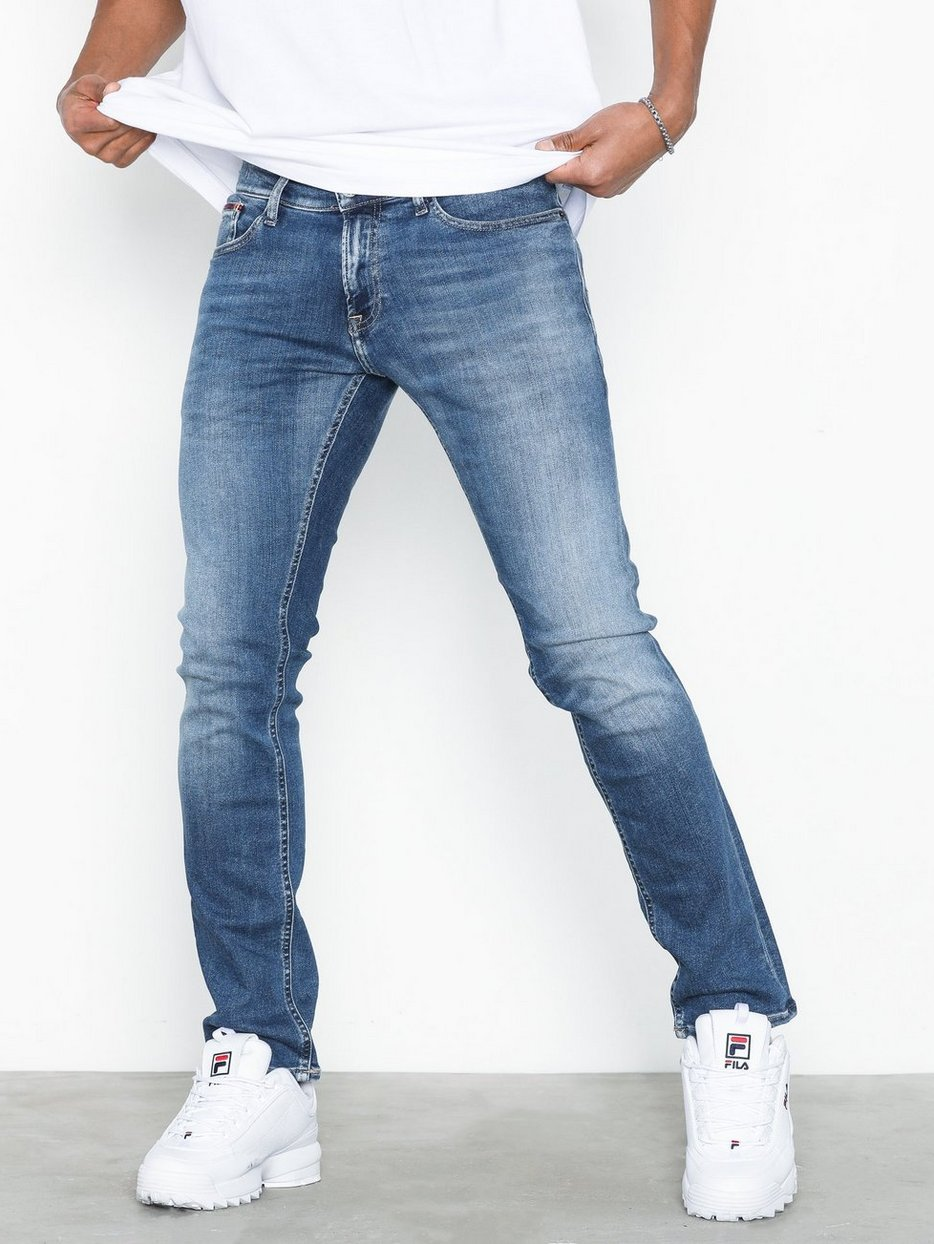 aa24abb0 Slim Scanton Flcnm - Tommy Jeans - Blue - Jeans - Clothing - Men ...