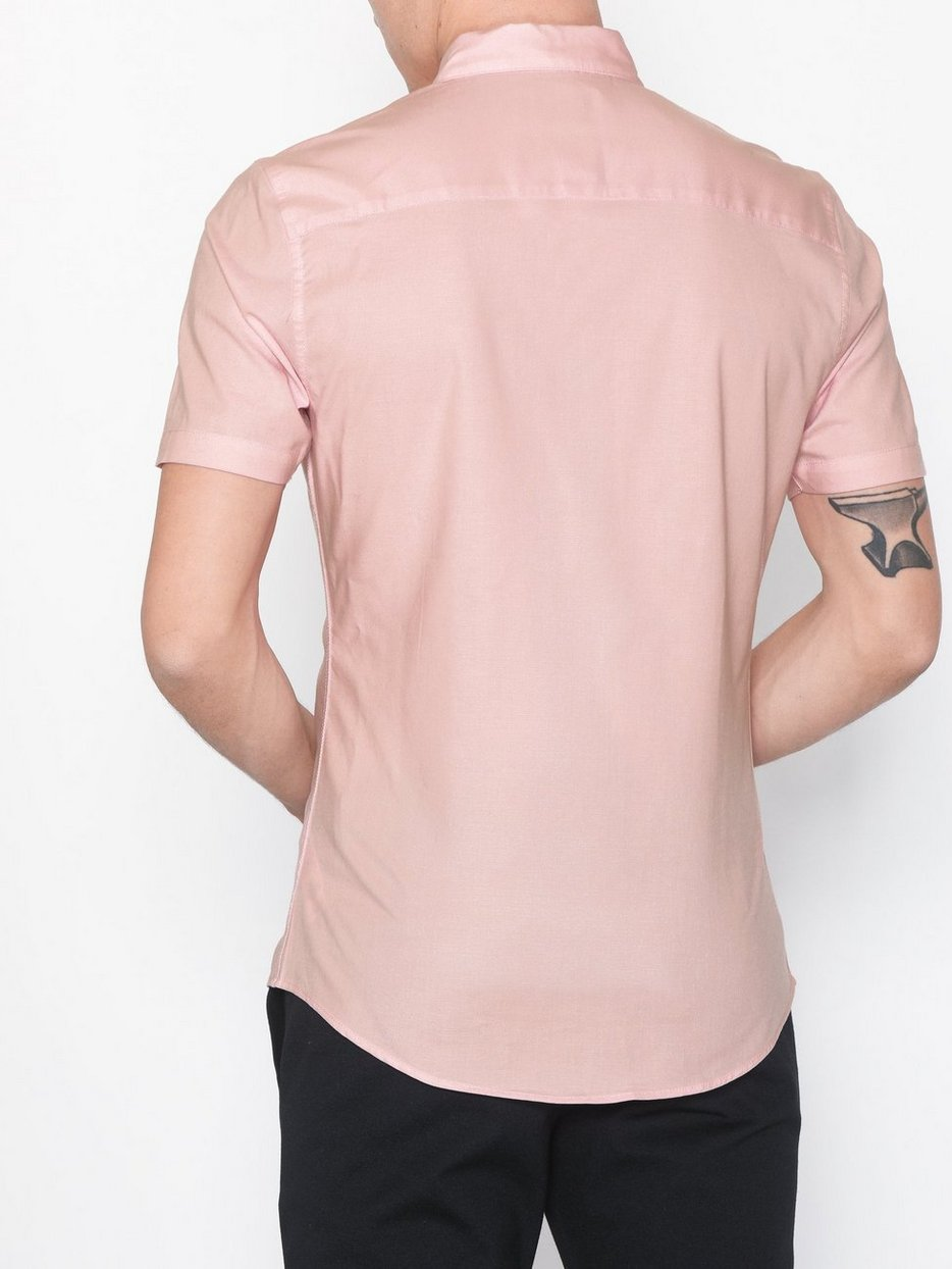 Light Pink Stretch Skinny Oxford Shirt