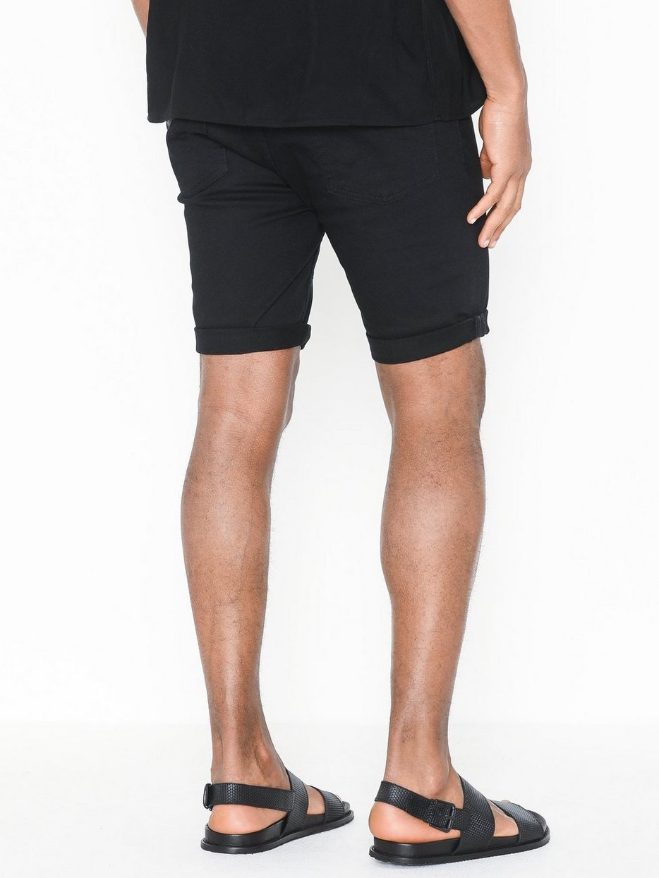 Black Stretch Skinny Shorts