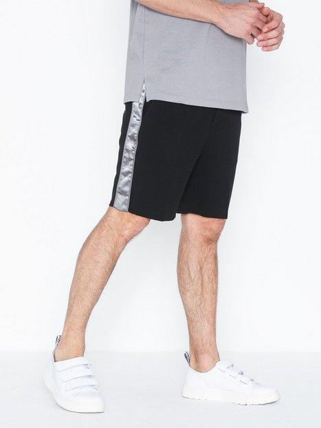 Topman Black Side Taping Smart Shorts Shorts Black mand køb billigt