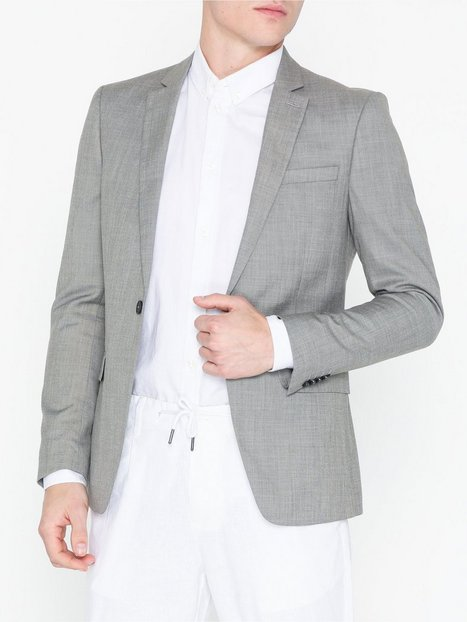 Topman Grey Marl Skinny Fit Suit Jacket Blazere jakkesæt Grey - herre