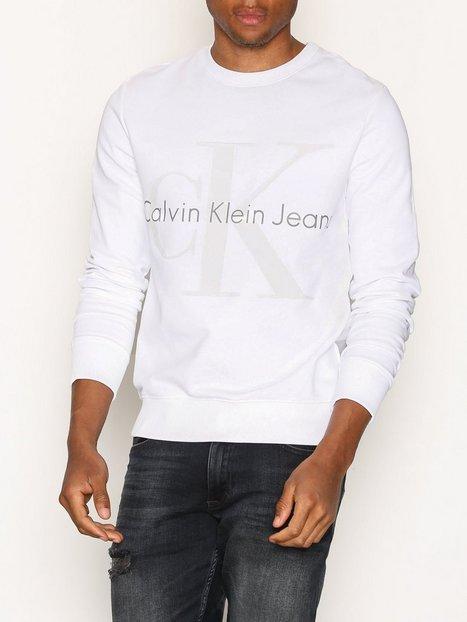 Calvin Klein Jeans Hicus True Icon CN Hknit LS Trøjer Bright White mand køb billigt