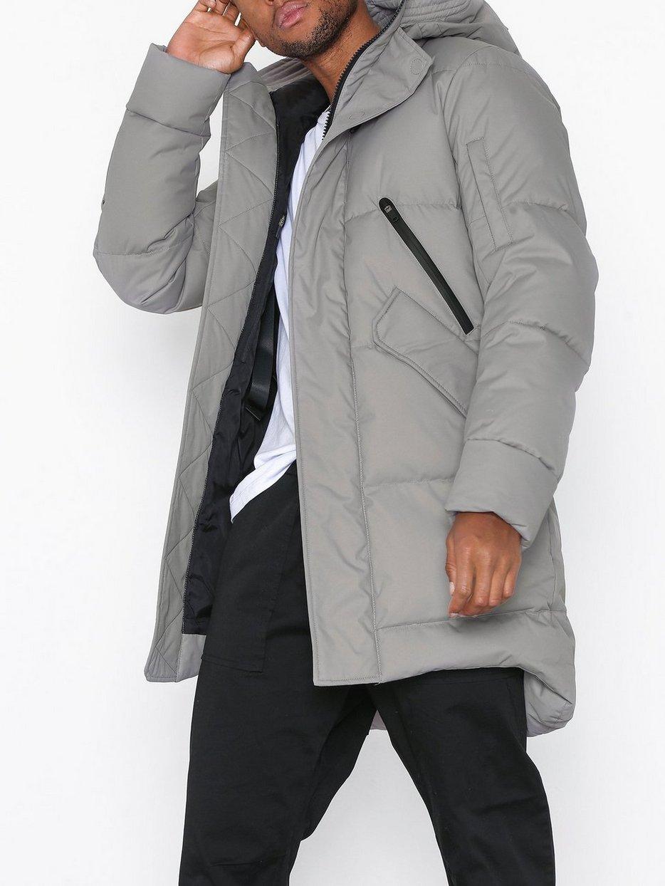 507cca5a7940a Long Down Jacket Men - 2 - Krakatau - Cement - Jackets - Clothing ...