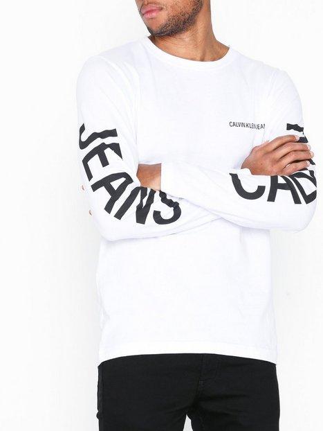 Calvin Klein Jeans Institutional Back Print Trøjer White mand køb billigt