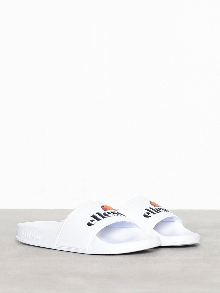 3a0f4ce9ca82 El Filippo Slide - Ellesse - White - Sandals   Flip - Flops - Shoes ...