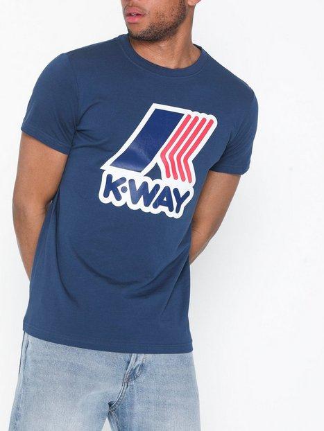 K-WAY Pete Macro Logo T-Shirt T-shirts & linnen Blå