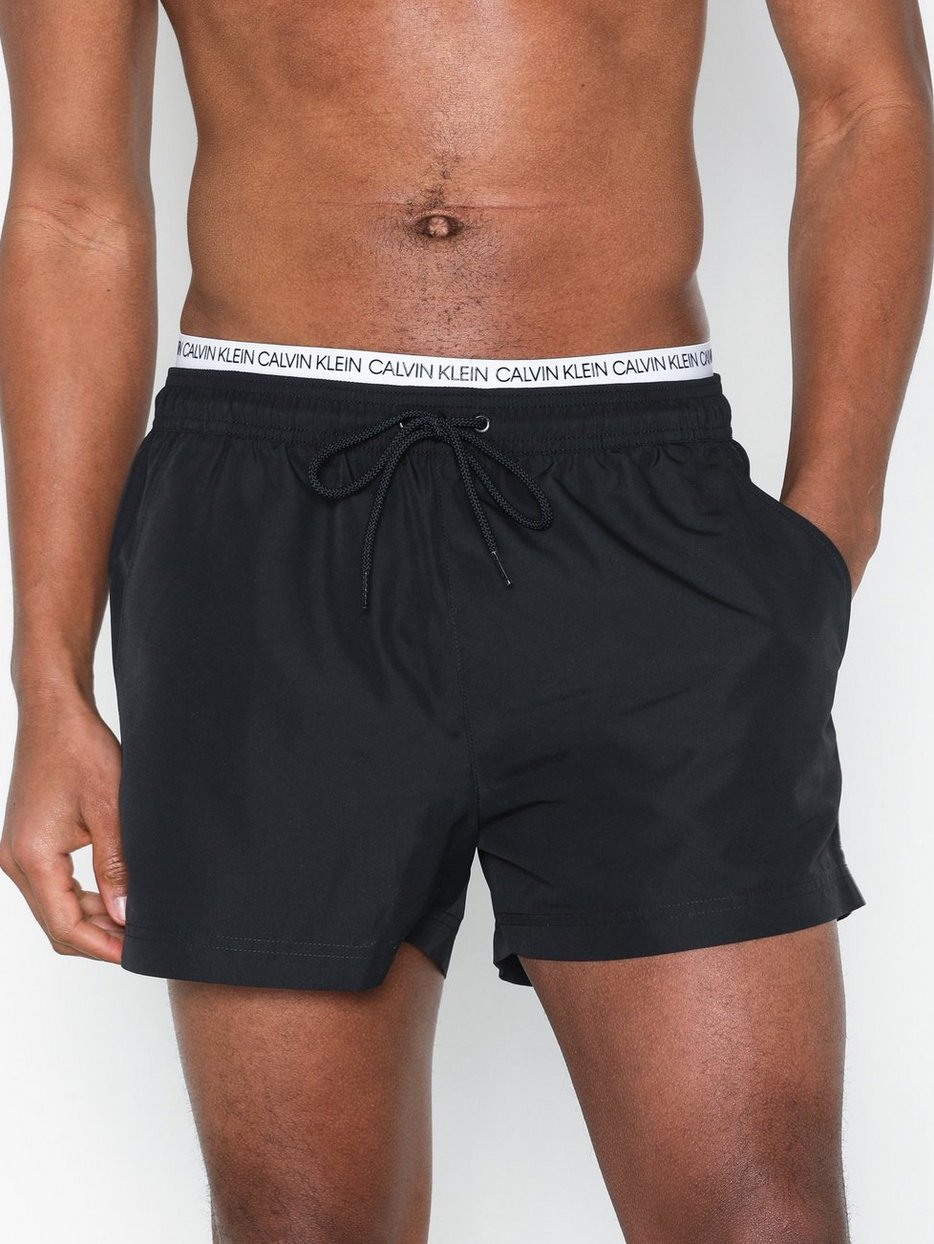 29b696522a Short Double Waistband - Calvin Klein Underwear - Black - Swim ...