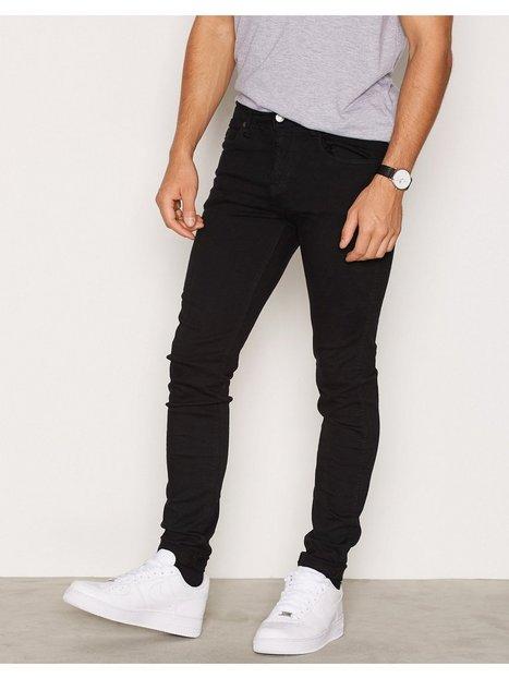 Dr Denim Snap Jeans Black mand køb billigt