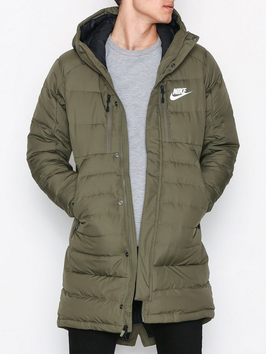 Down Fill Parka - Nike Sportswear - Olive - Jackets - Clothing ...