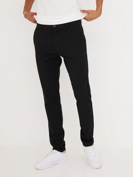 Tailored By Solid Pants Frederic Bukser Black mand køb billigt