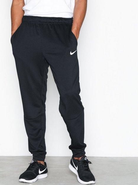 Nike M Nk Dry Pant Taper Fleece Träningsbyxor Black/White