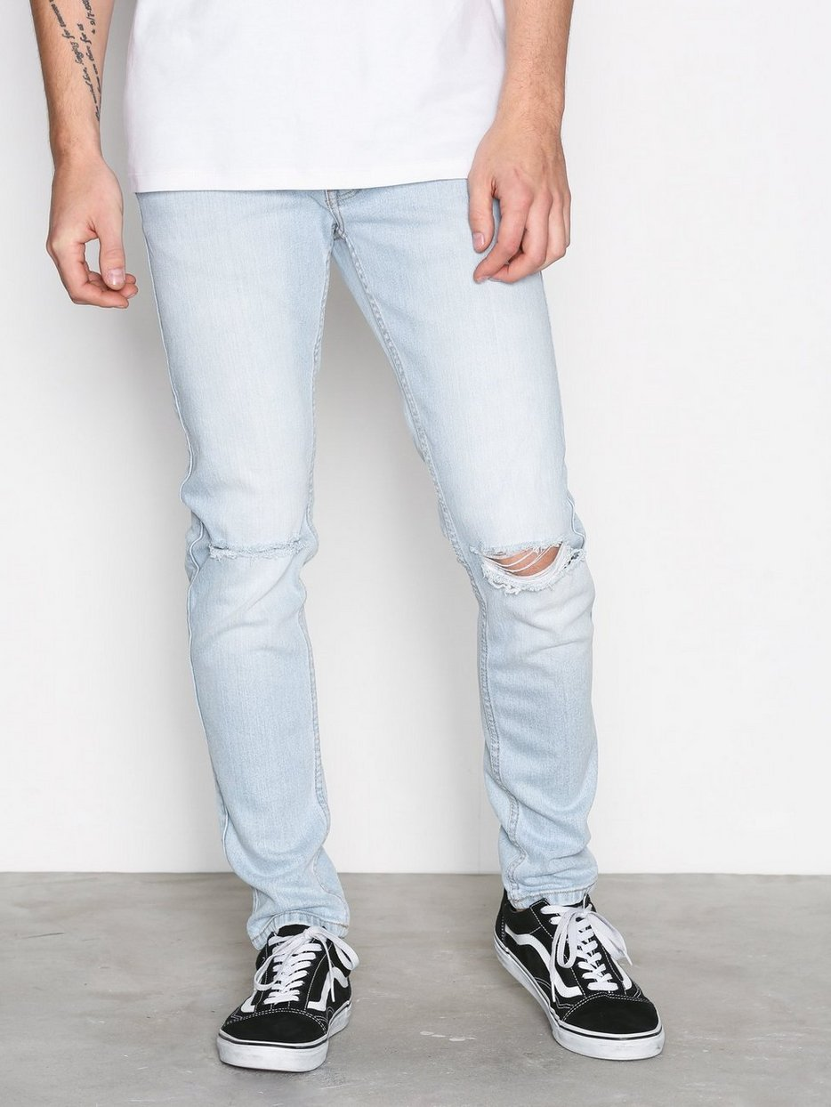 Clark Superlight Blue Ripped Slim Jeans - Superlight blue Dr. Denim M6fZt