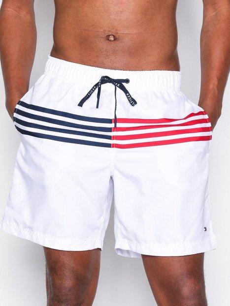 Tommy Hilfiger Long Drawstring Badetøj Bright White mand køb billigt