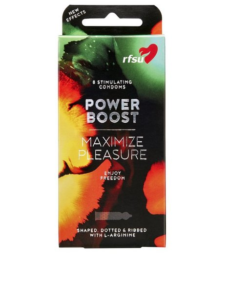 RFSU Power Boost Condoms 8 Pack Intimprodukter Transparent mand køb billigt