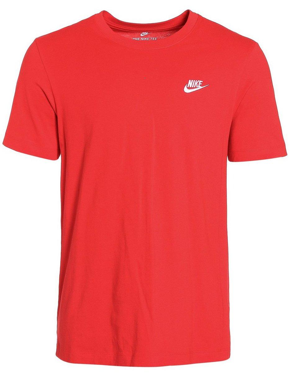 f1c7f022 M Nsw Club Tee - Nike Sportswear - Red - T - Shirts & Linens ...