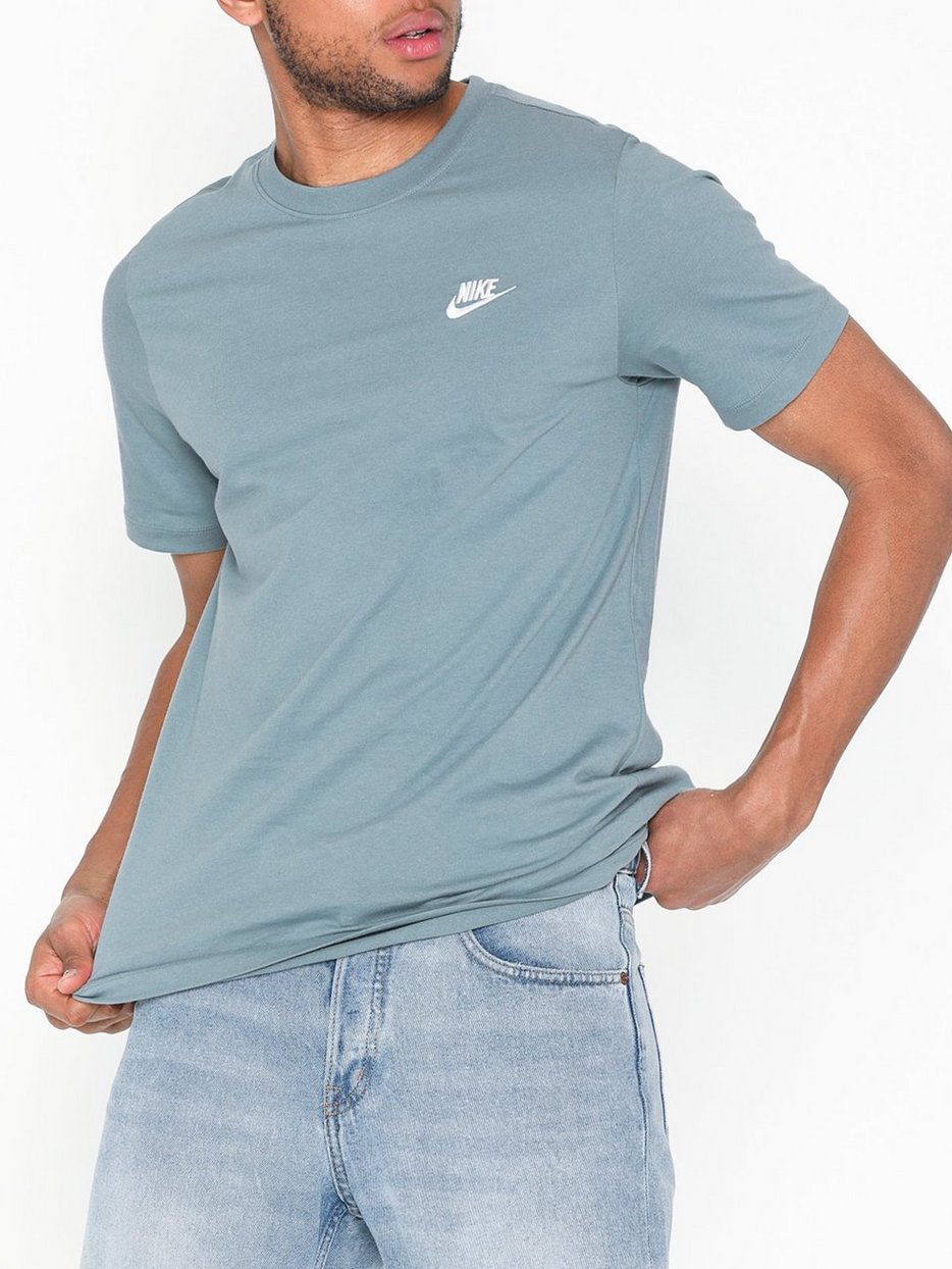 9b34541d M Nsw Club Tee - Nike Sportswear - Gray/Blue - T - Shirts & Linens ...
