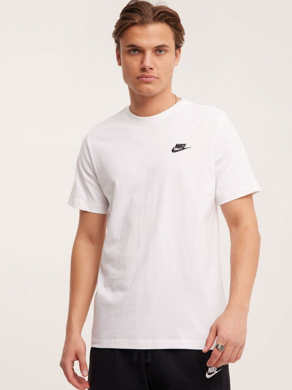 91f22d93 M Nsw Club Tee - Nike Sportswear - White - T - Shirts & Linens ...