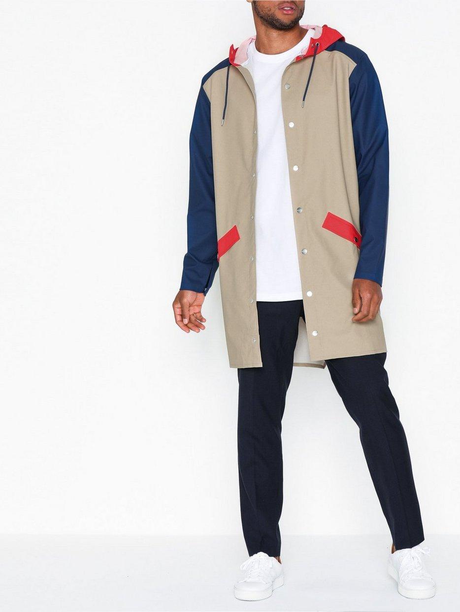 Color Block Long Jacket