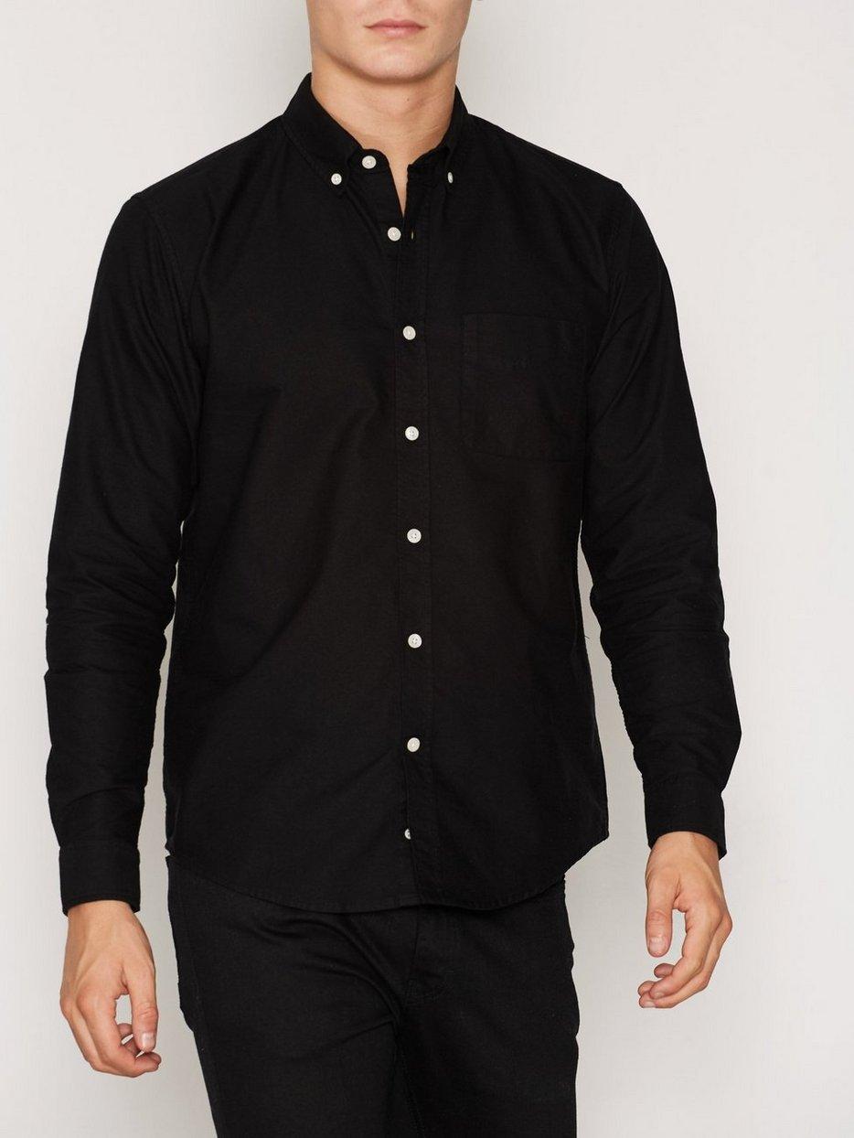 Needs Oxford Shirt - L'homme Rouge - Black - Shirts (Men ...