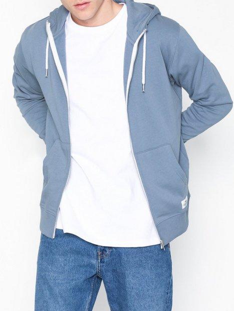 Solid Morgan Zip Sweat Trøjer Blue mand køb billigt