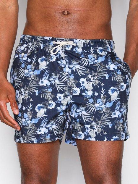 Morris Flower Bathing Trunks Badetøj Blue mand køb billigt