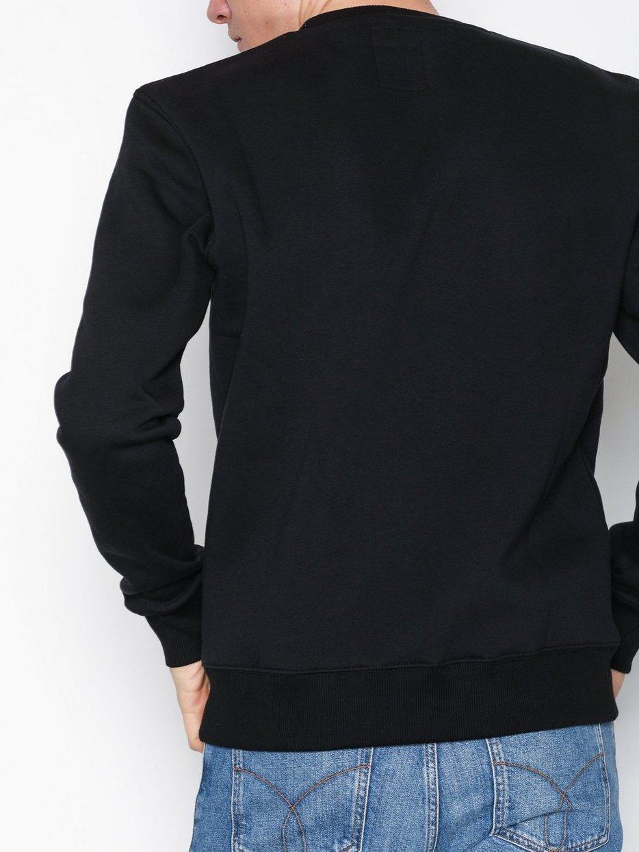 c37d29765 Basic Sweater - Alpha Industries - Black - Jumpers & Cardigans ...