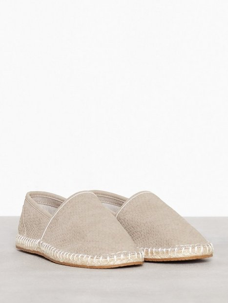 River Island Immi Suede Espadrille Loafers slippers Stone - herre