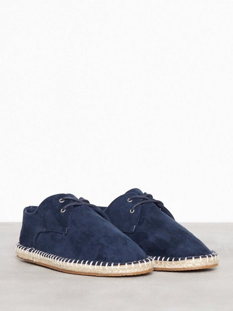 River Island Lace Up Espadrille Loafers slippers Navy - herre