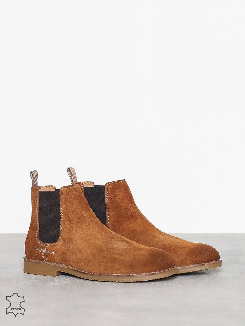 Tan Suede Barnes River Island Tan Chelsea Boots Shoes Men