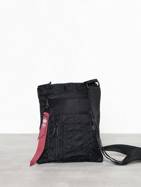 Alpha Industries Crew Messenger Bag Tasker Sort - herre