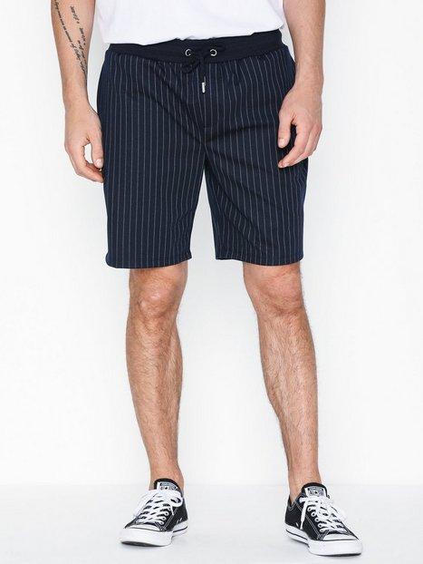 River Island Navy Pinstripe Short Shorts Navy - herre