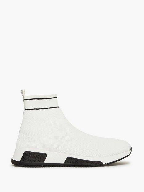 River Island Sock Runner High Sneakers White mand køb billigt