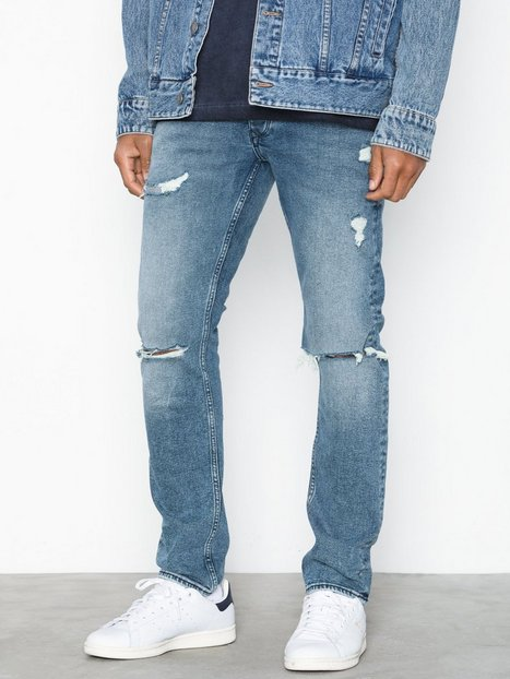 River Island Livid Ripped Sk Oct Jeans Blue - herre