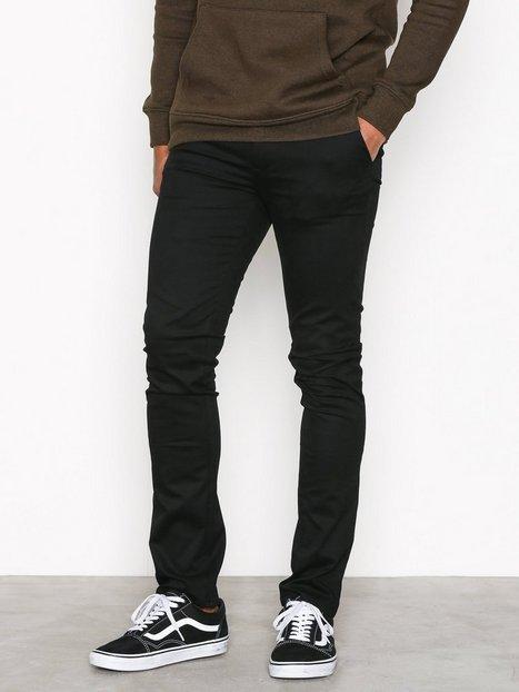 New Look New Skinny Chino Jeans Black mand køb billigt