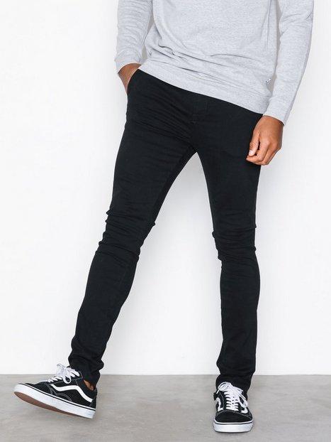 New Look Super Skinny Stretch Chin Bukser Black mand køb billigt