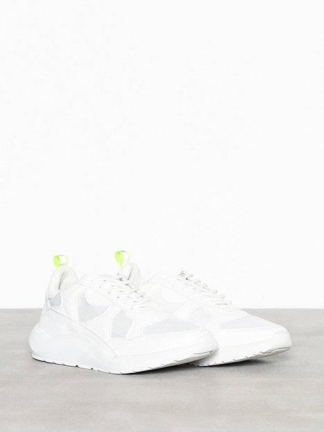 River Island Chunky Sole Runner Sneakers tekstilsko White - herre