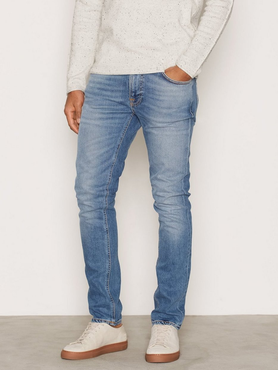 Hommes Jeans Dean Maigre Jeans Nudie lSedMiF