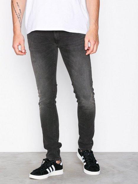 Nudie Jeans Tight Terry Ever Black Jeans Sort mand køb billigt