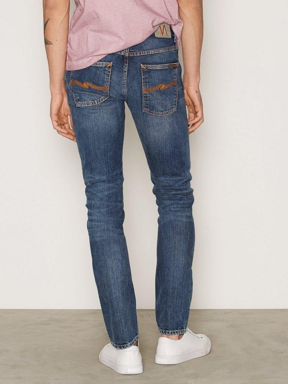 grim tim shaded blue nudie jeans blue jeans. Black Bedroom Furniture Sets. Home Design Ideas