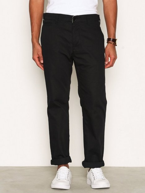 Nudie Jeans Regular Anton Black Bukser Sort mand køb billigt