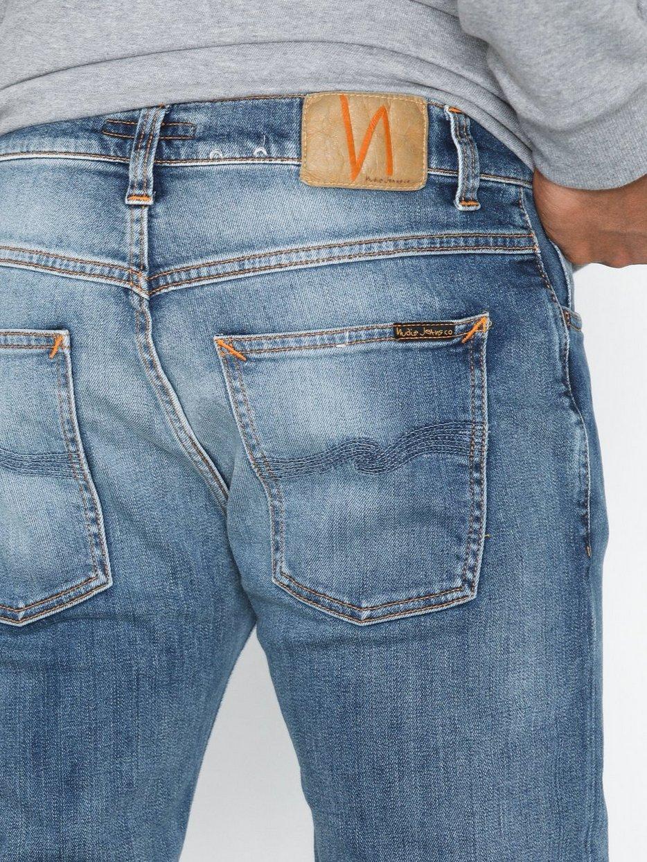 cb739745ef7c Dude Dan Steel Indigo - Nudie Jeans - Blue - Jeans - Clothing - Men ...