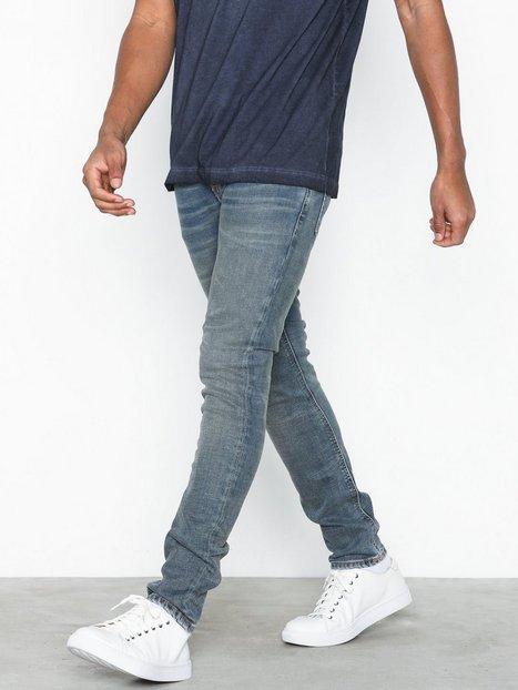 Nudie Jeans Tight Terry Steel Indigo Jeans Blue - herre