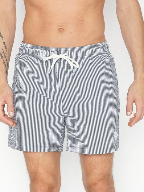 Gant Seersucker Swim Shorts Classic Fit Badetøj Blue - herre