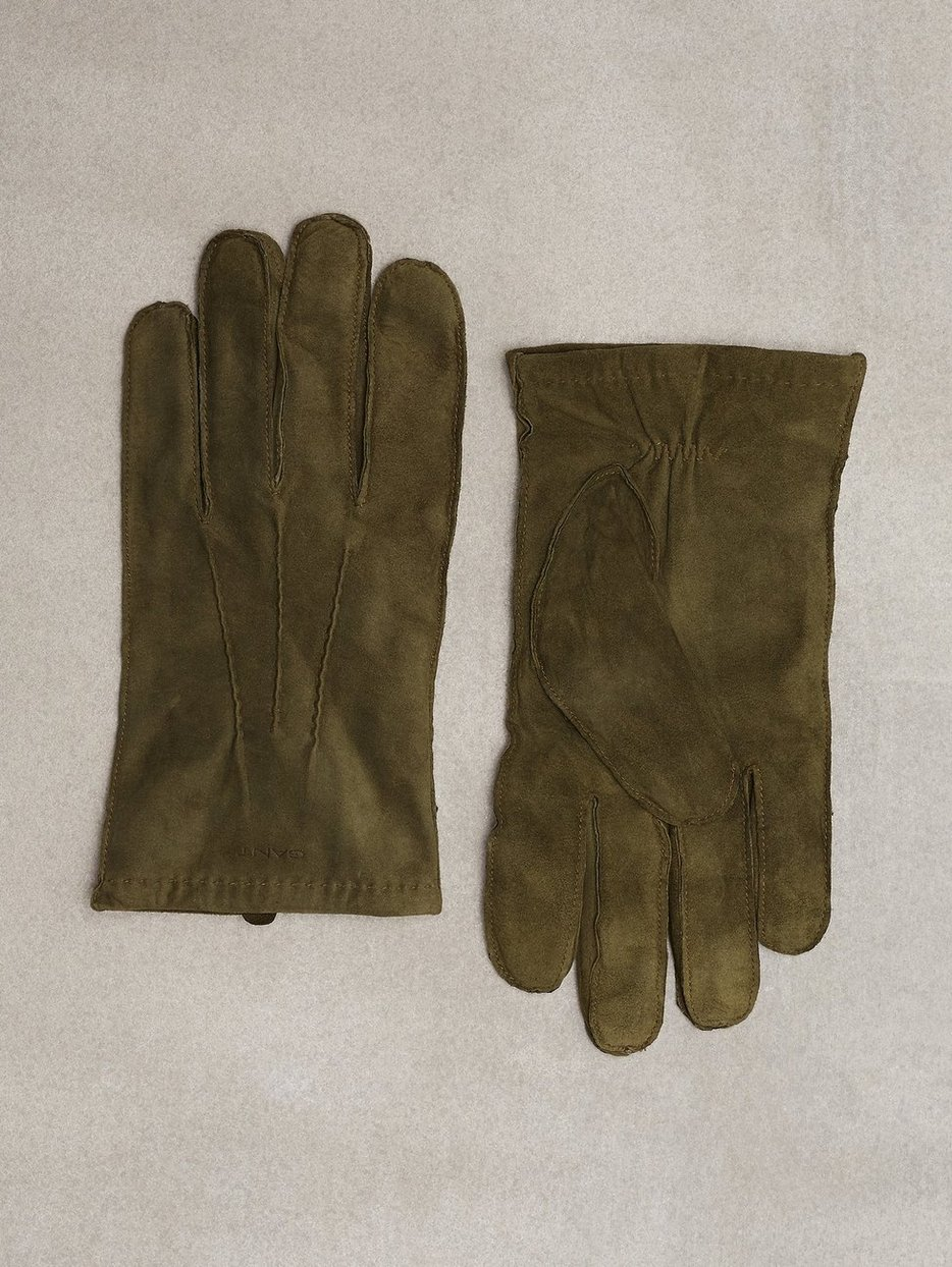 O1. Classic Suede Gloves - Gant - Green - Gloves - Accessories - Men ...