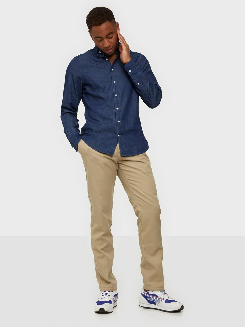 92b41f8ca7d The Indigo Slim Bd - Gant - Indigo - Shirts (Men) - Clothing - Men ...