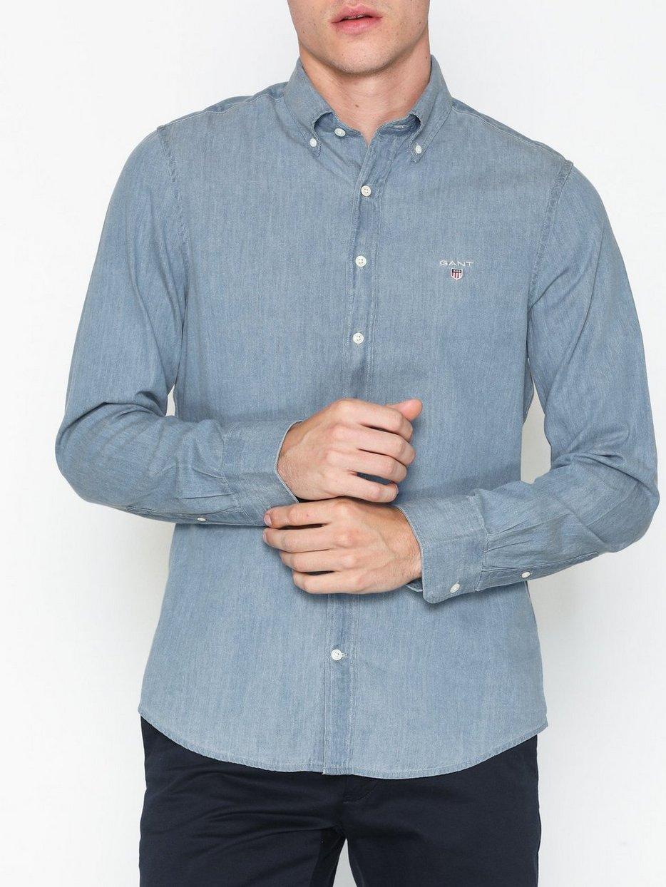 5ecf5da4d5c The Indigo Slim Bd - Gant - Light Blue - Shirts (Men) - Clothing ...